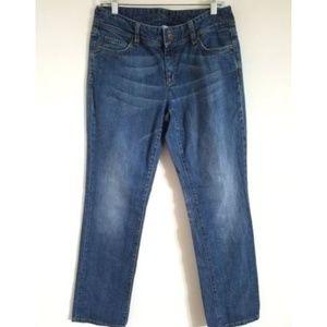 Michael Kors Straight Leg Embossed Pocket Jeans